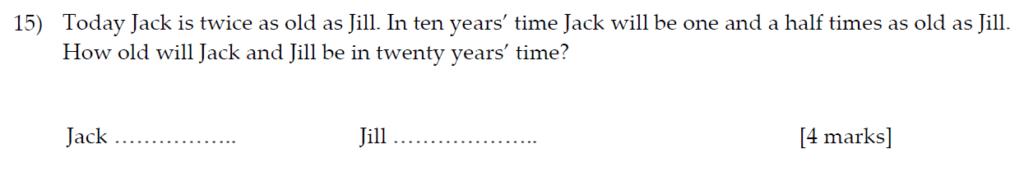 Sevenoaks School Year 7 Sample Paper 2013 Question 19
