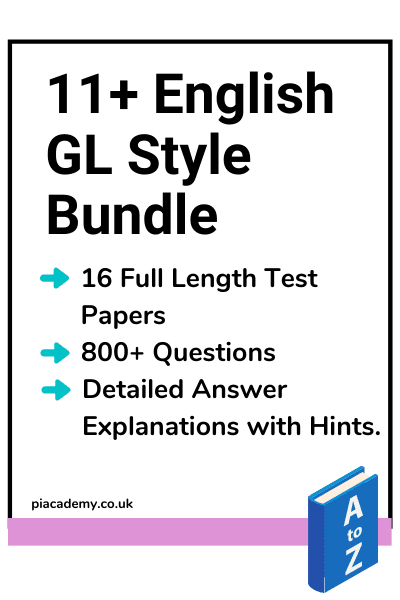 11 Plus English GL Style Practice Papers Bundle