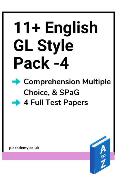 11 Plus GL English Papers Pack 4 with answers