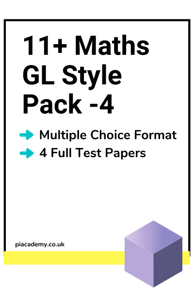 11 Plus GL Maths Papers Pack 4 with answers