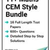 11+ Maths CEM Practice Papers Bundle