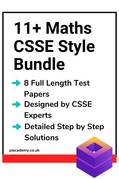 11 Plus Maths CSSE Style Practice Papers Bundle