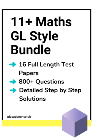 11 Plus Maths GL Style Practice Papers Bundle