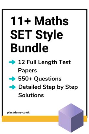11 Plus Maths SET Style Practice Papers Bundle