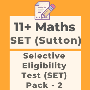 11 Plus SET Style Maths Test Papers Pack 2 - Lock