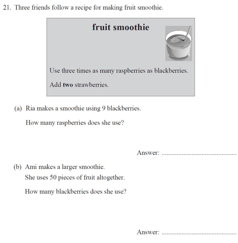 Group 1 Maths 2017 - Question 22