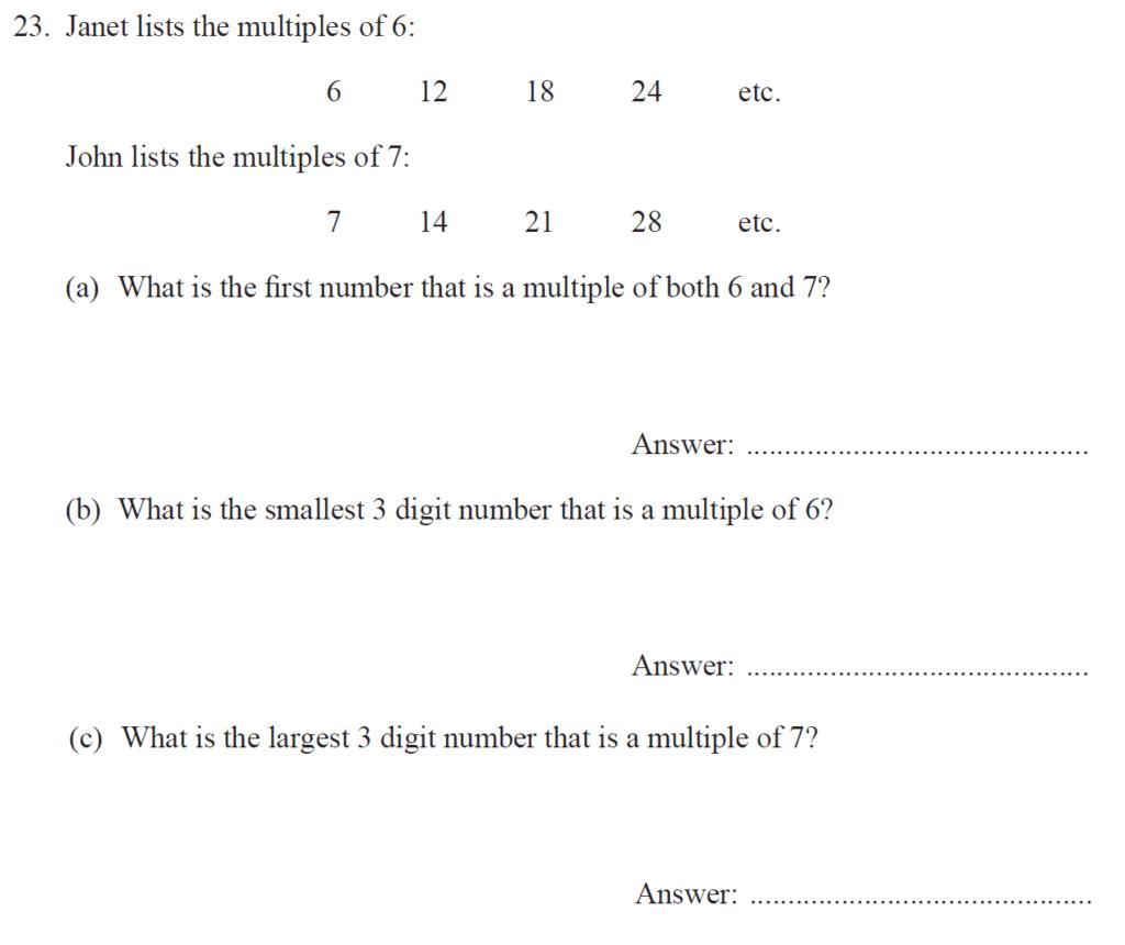 Group 1 Maths 2017 - Question 25