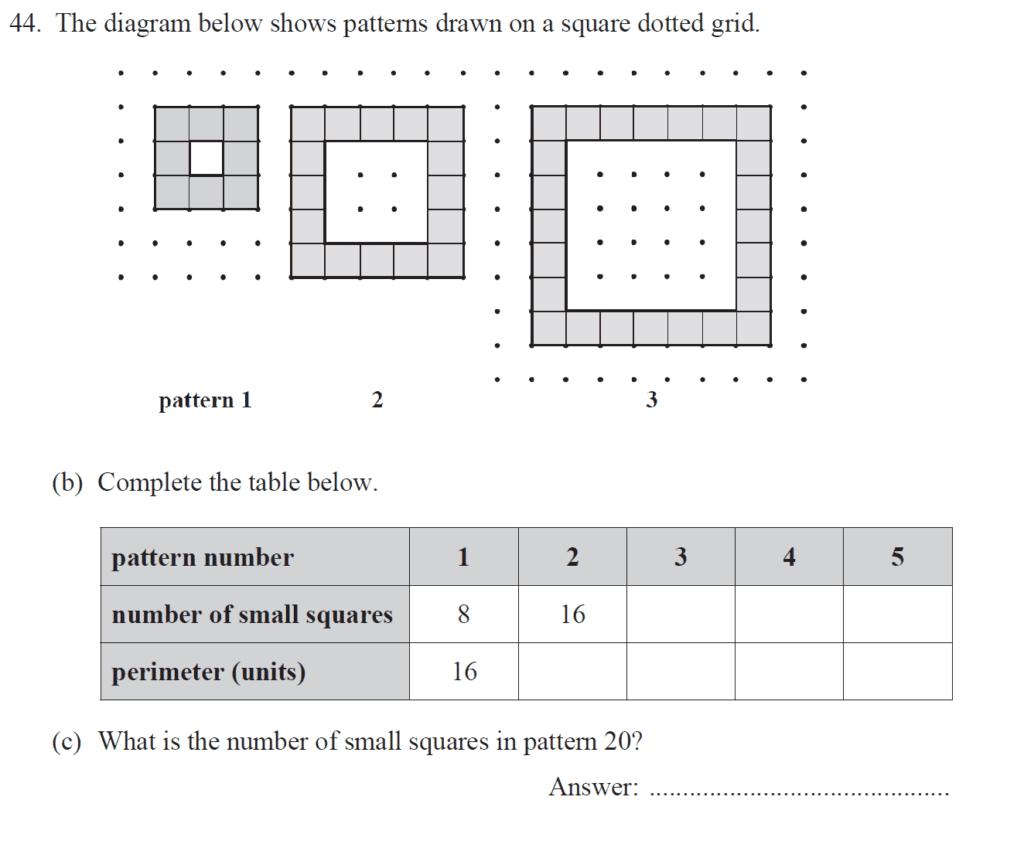 Group 1 Maths 2017 - Question 50