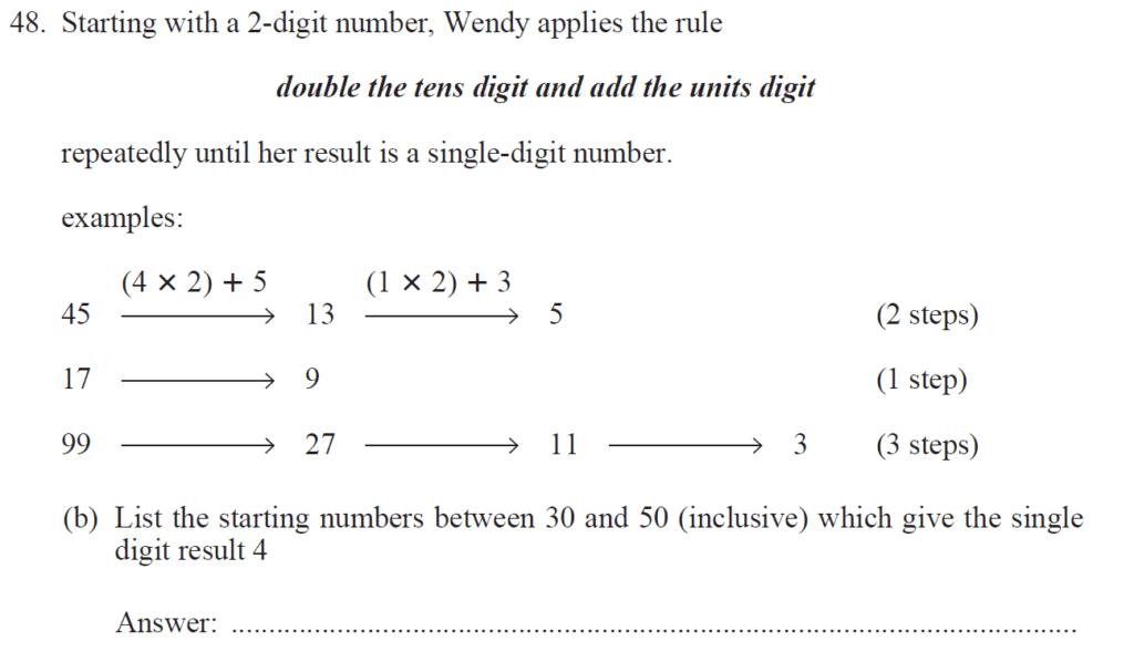 Group 1 Maths 2017 - Question 57