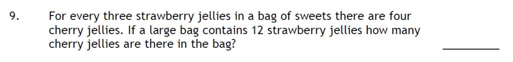 Haberdashers Askes Boys School HABS - 11 Plus Entrance Exam 2015 - Question 09