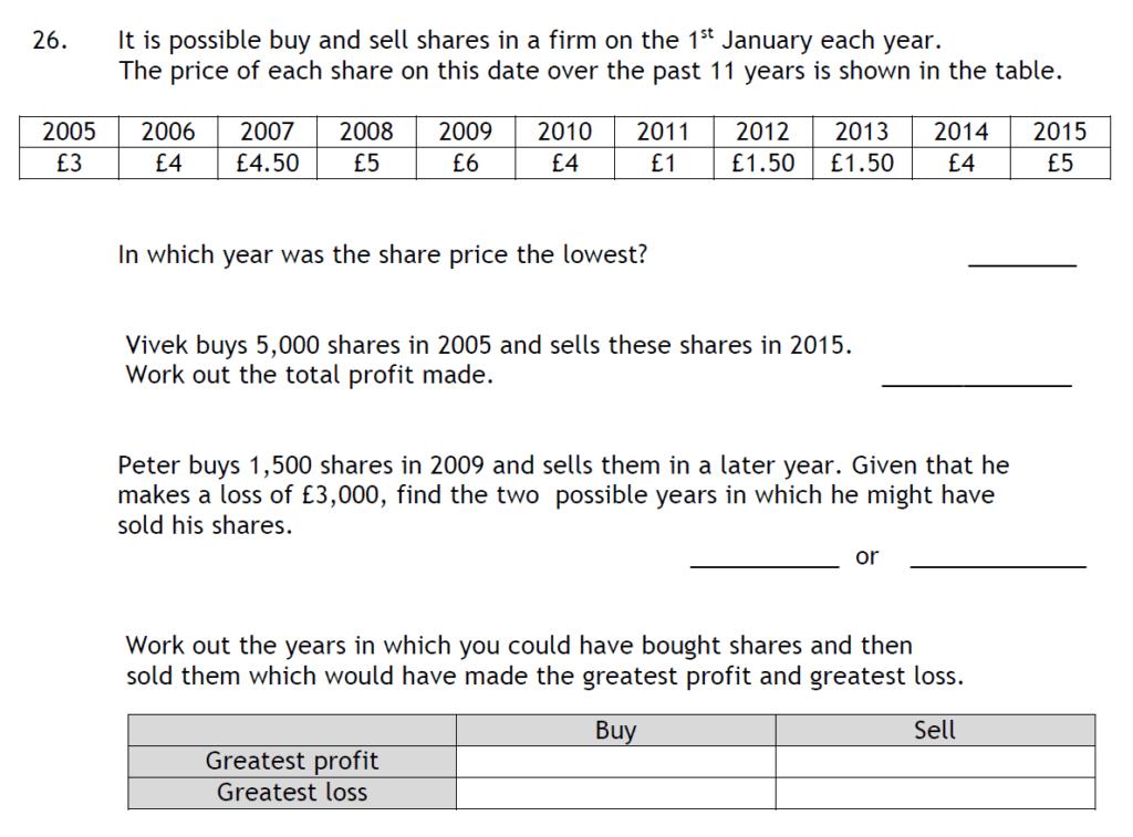 Haberdashers Askes Boys School HABS - 11 Plus Entrance Exam 2015 - Question 27