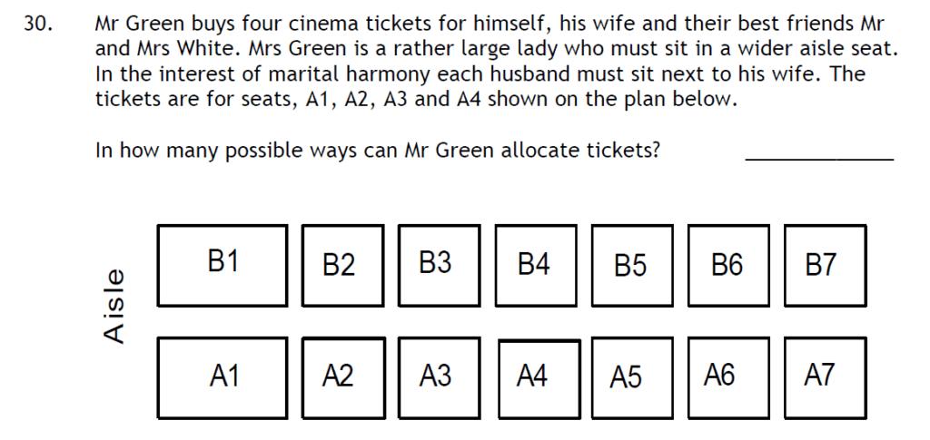 Haberdashers Askes Boys School HABS - 11 Plus Entrance Exam 2015 - Question 32