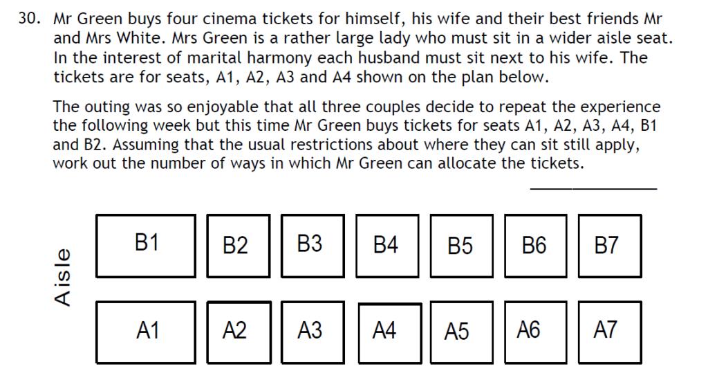 Haberdashers Askes Boys School HABS - 11 Plus Entrance Exam 2015 - Question 34