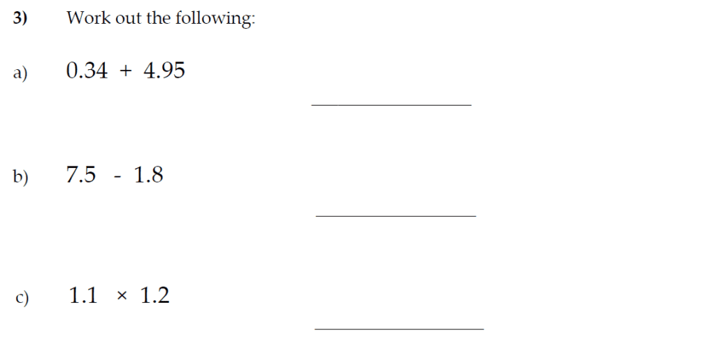 The Kings School 11 Plus Maths Entrance Examinations 2011 - Question 03