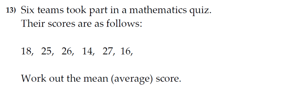 The Kings School 11 Plus Maths Entrance Examinations 2011 - Question 13