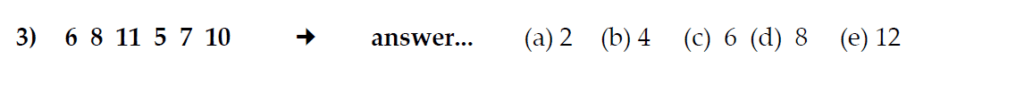 The Kings School 11 Plus Maths Entrance Examinations 2011 - Question 23