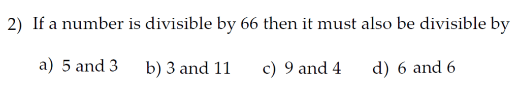 The Kings School 11 Plus Maths Entrance Examinations 2011 - Question 32