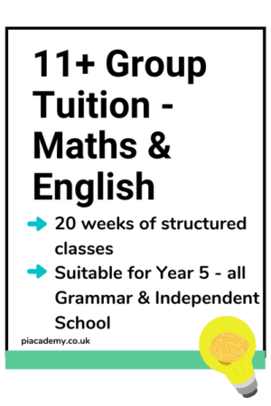11 Plus Group Tutoring - Maths and English