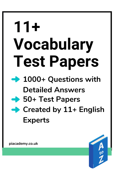 11 Plus Vocabulary Practice Papers Product page
