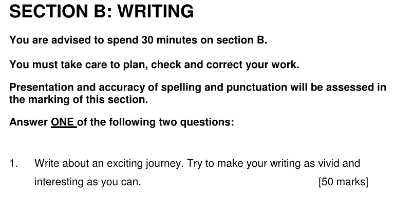 Alleyns School 11 Plus English Sample Paper 2 2020 Creative Writing - Question 01