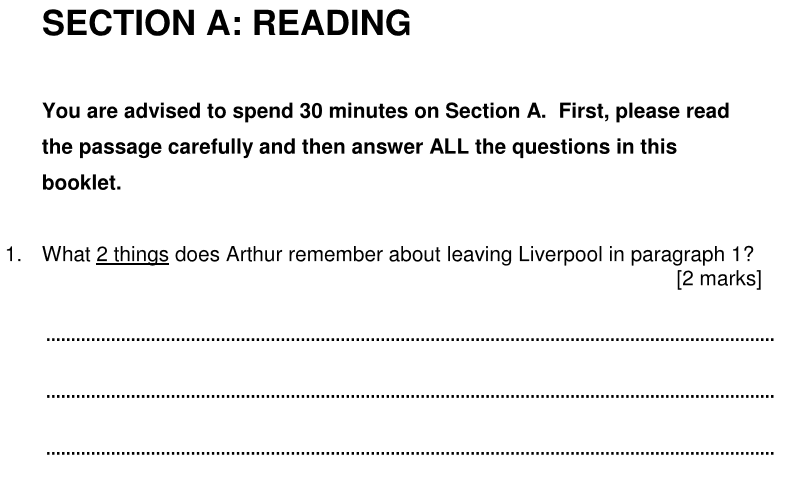 Alleyns School 11 Plus English Sample Paper 2 2020 - Question 01