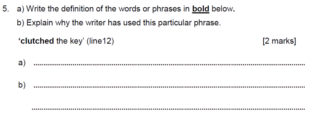 Alleyns School 11 Plus English Sample Paper 2 2020 - Question 07