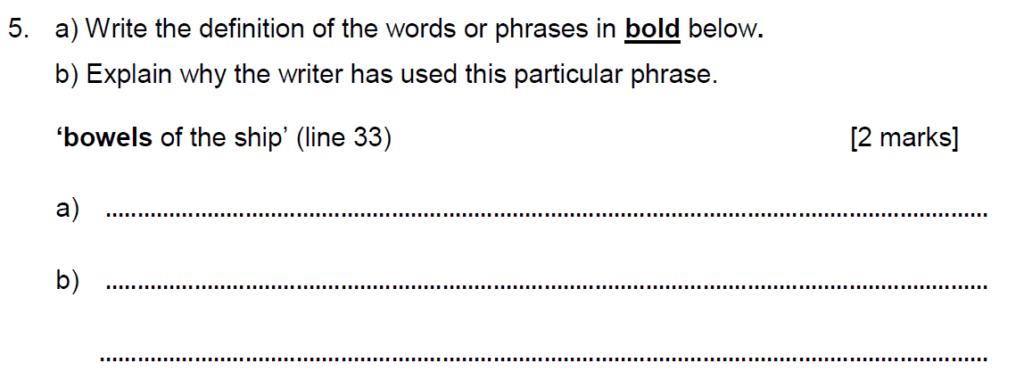Alleyns School 11 Plus English Sample Paper 2 2020 - Question 08