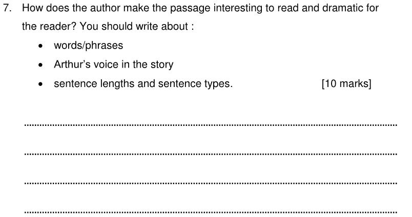 Alleyns School 11 Plus English Sample Paper 2 2020 - Question 11
