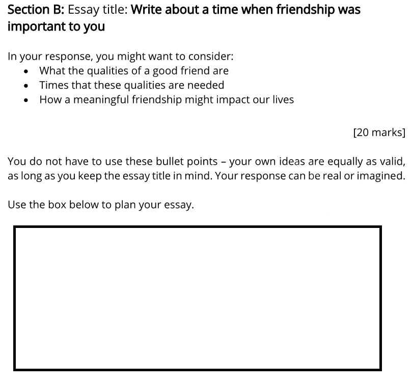Bancrofts School 11 Plus English Sample Paper 1 2020 Creative Writing - Question 01