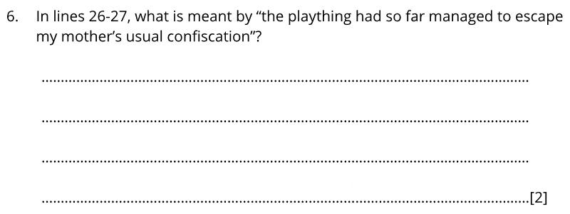 Bancrofts School 11 Plus English Sample Paper 1 2020 - Question 06