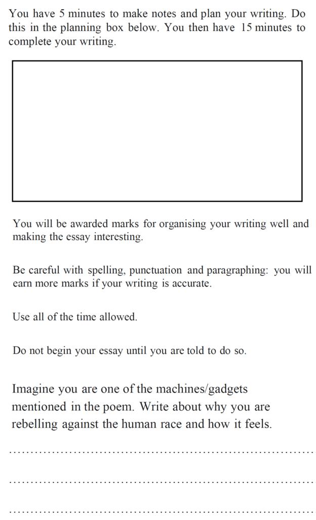 Bancrofts School 11 Plus English Sample Paper 1 Creative Writing - Question 01