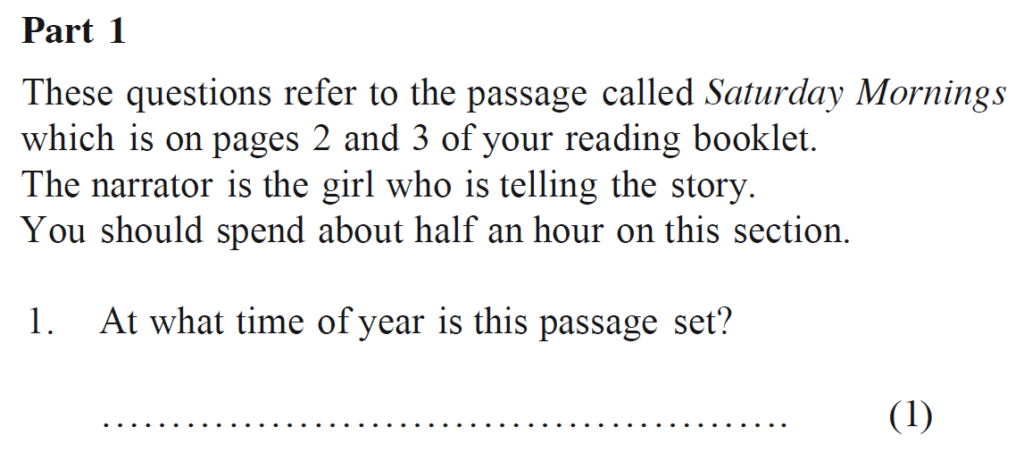 Bancrofts School 11 Plus English Sample Paper 1 - Question 01