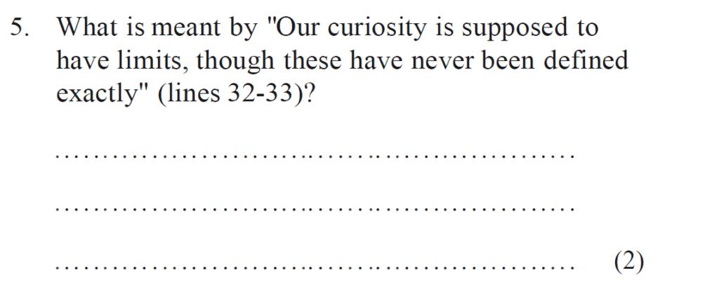 Bancrofts School 11 Plus English Sample Paper 1 - Question 05