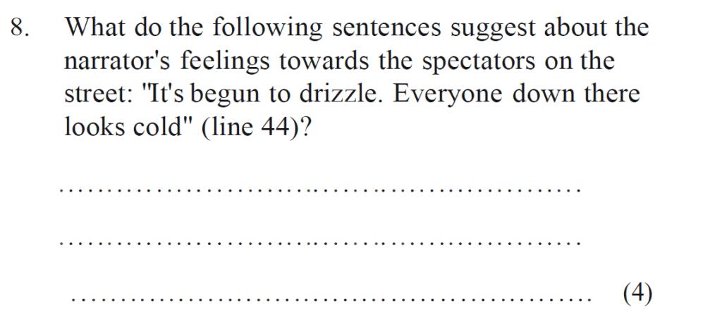 Bancrofts School 11 Plus English Sample Paper 1 - Question 08