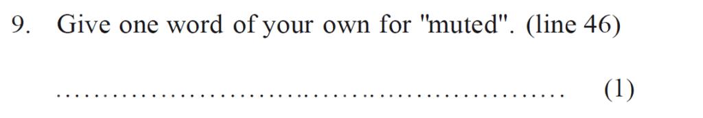 Bancrofts School 11 Plus English Sample Paper 1 - Question 09
