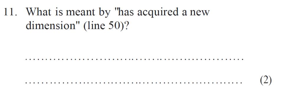 Bancrofts School 11 Plus English Sample Paper 1 - Question 11