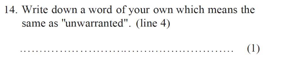 Bancrofts School 11 Plus English Sample Paper 1 - Question 14