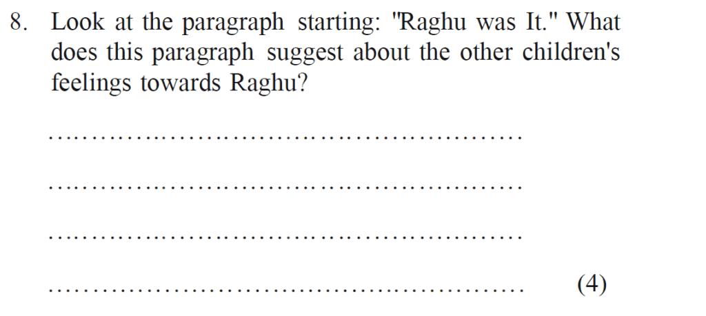 Bancrofts School 11 Plus English Sample Paper 2 - Question 08