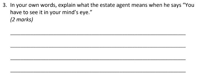 Eltham College 11 Plus English Sample Paper 2019 Part A - Question 03