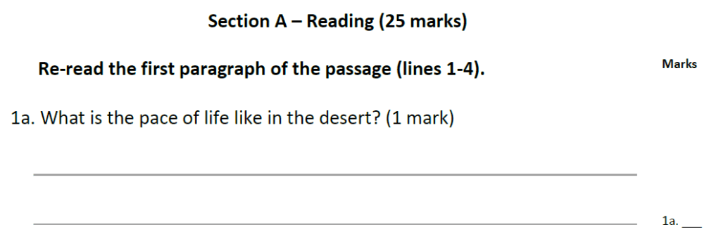Forest School 11 Plus English Sample Paper - Question 01