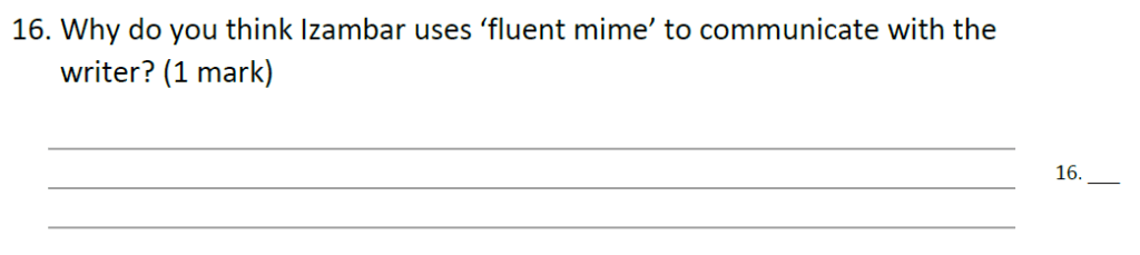 Forest School 11 Plus English Sample Paper - Question 17