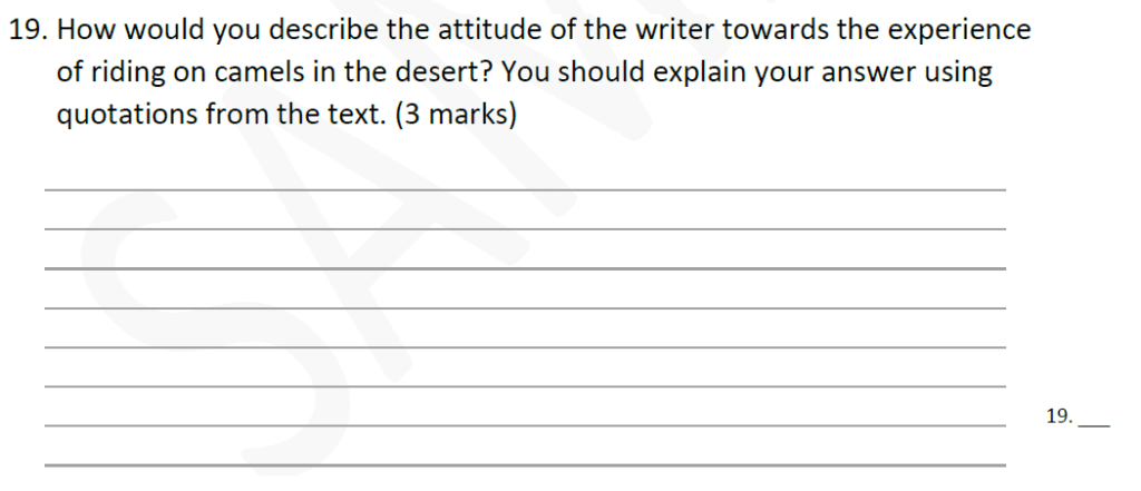 Forest School 11 Plus English Sample Paper - Question 20