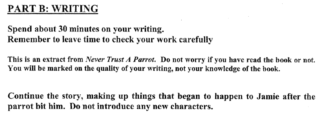 Group 1 2009 English Paper Creative Writing - Question 01