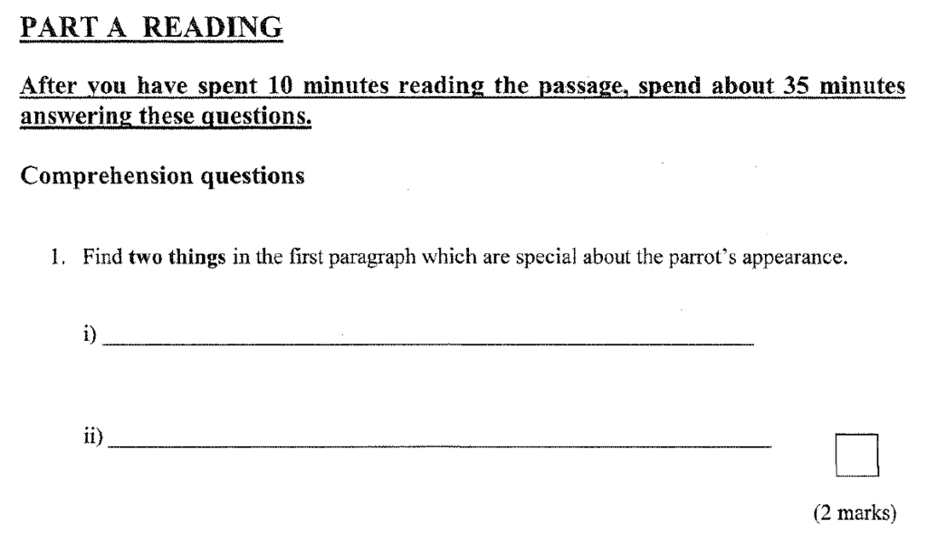 Group 1 2009 English Paper - Question 01