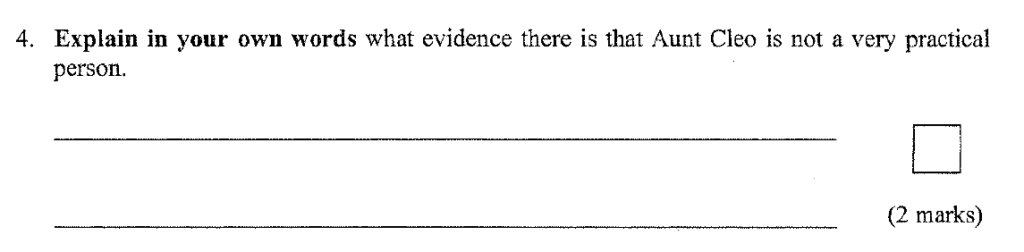 Question 03 11 Plus English Paper Group 1 - 2009 Answer