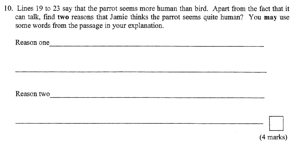 Group 1 2009 English Paper - Question 10
