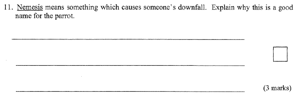 Group 1 2009 English Paper - Question 11