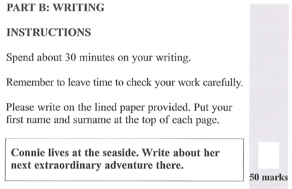 Group 1 2012 English Paper Creative Writing - Question 01