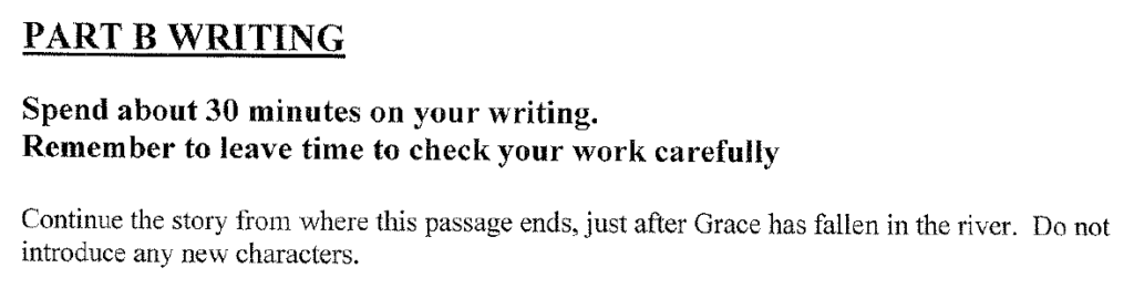 Group 2 2008 English Paper Creative Writing - Question 01
