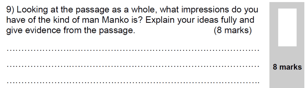 Group 2 2009 English Paper - Question 09